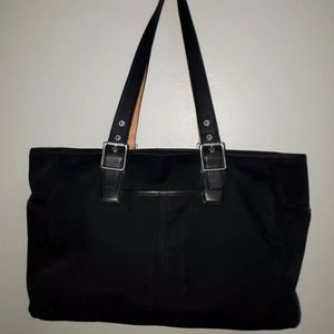 Coach black Nylon ,leather travel bag.